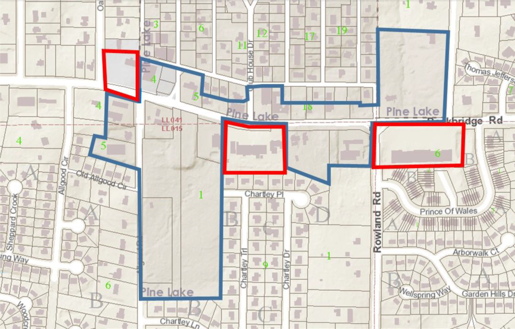 Pine Lake Annextion Map